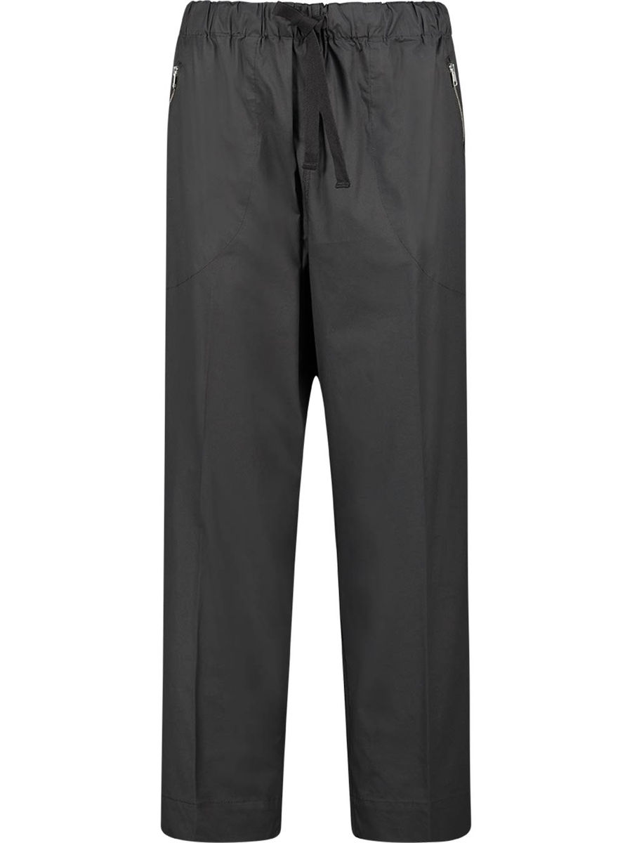 Relaxed ebony trousers