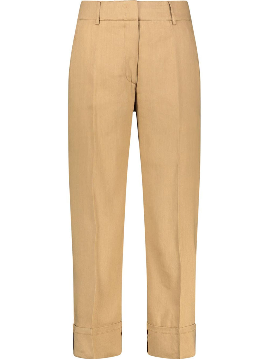 Cuffed straight leg trousers