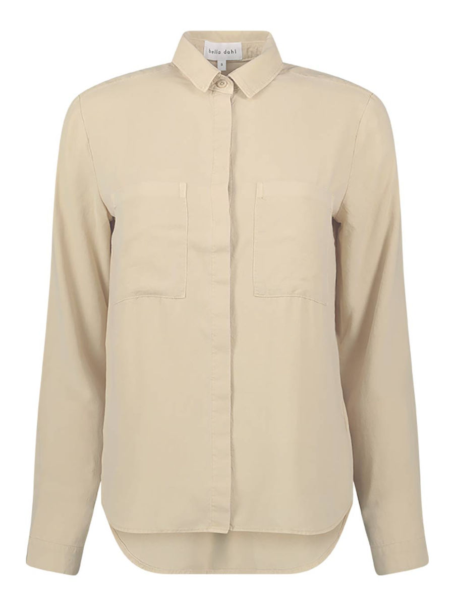 Minimal collared shirt