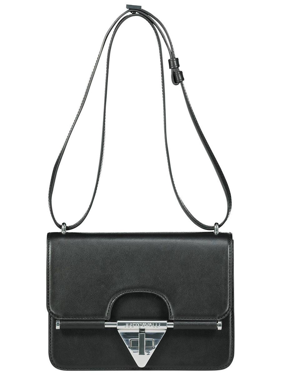 Trim silver buckled detailed shoulder bag