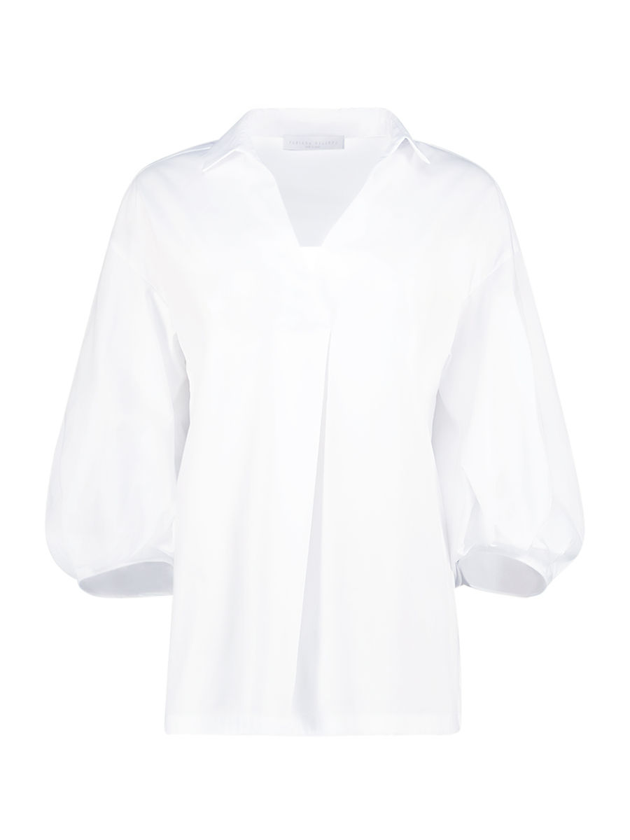 Balloon sleeves pearl blouse
