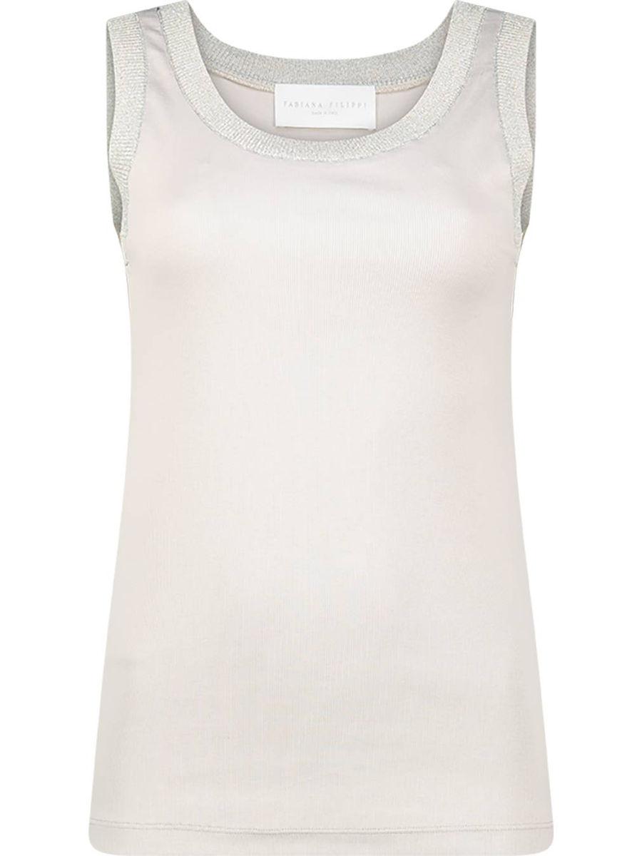 Prime neutral sleeveless blouse