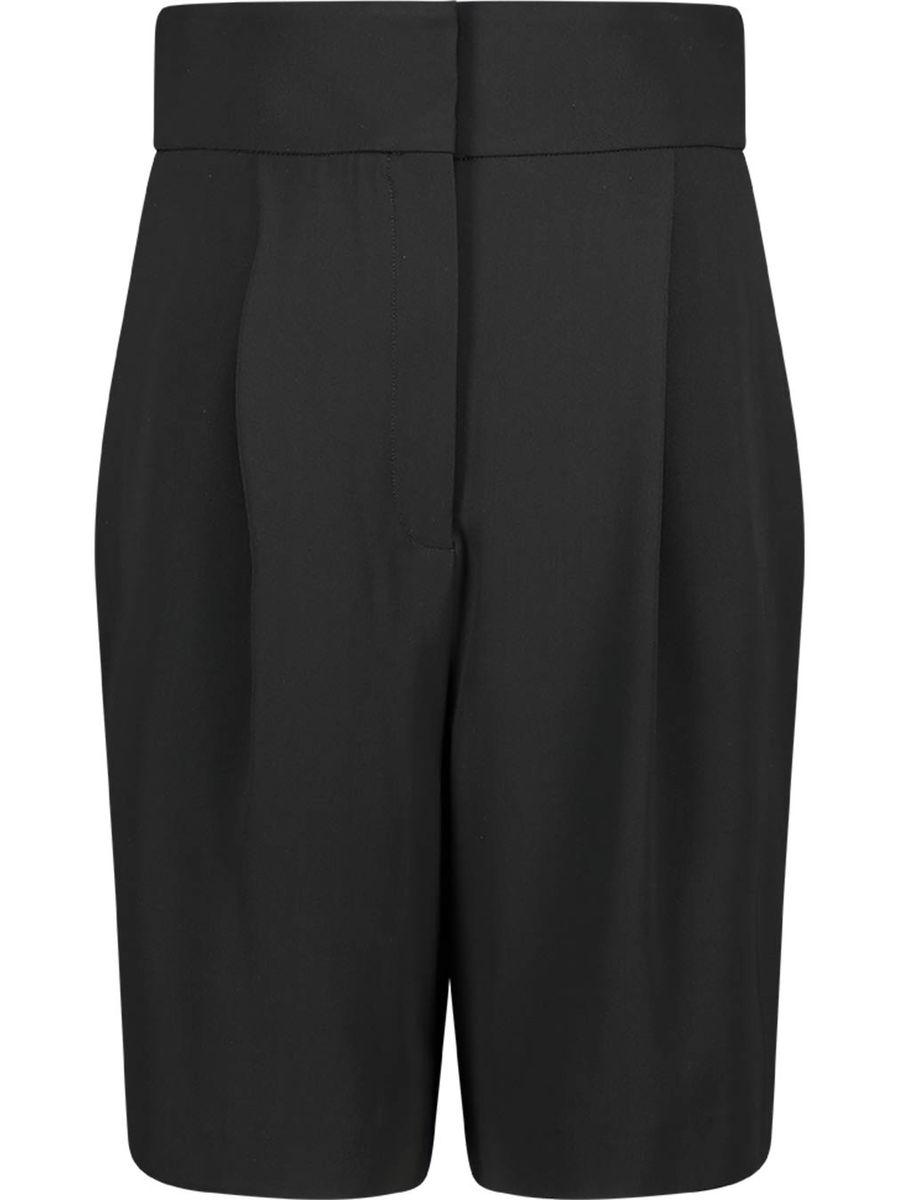 Wool-blend high-waisted midnight shorts