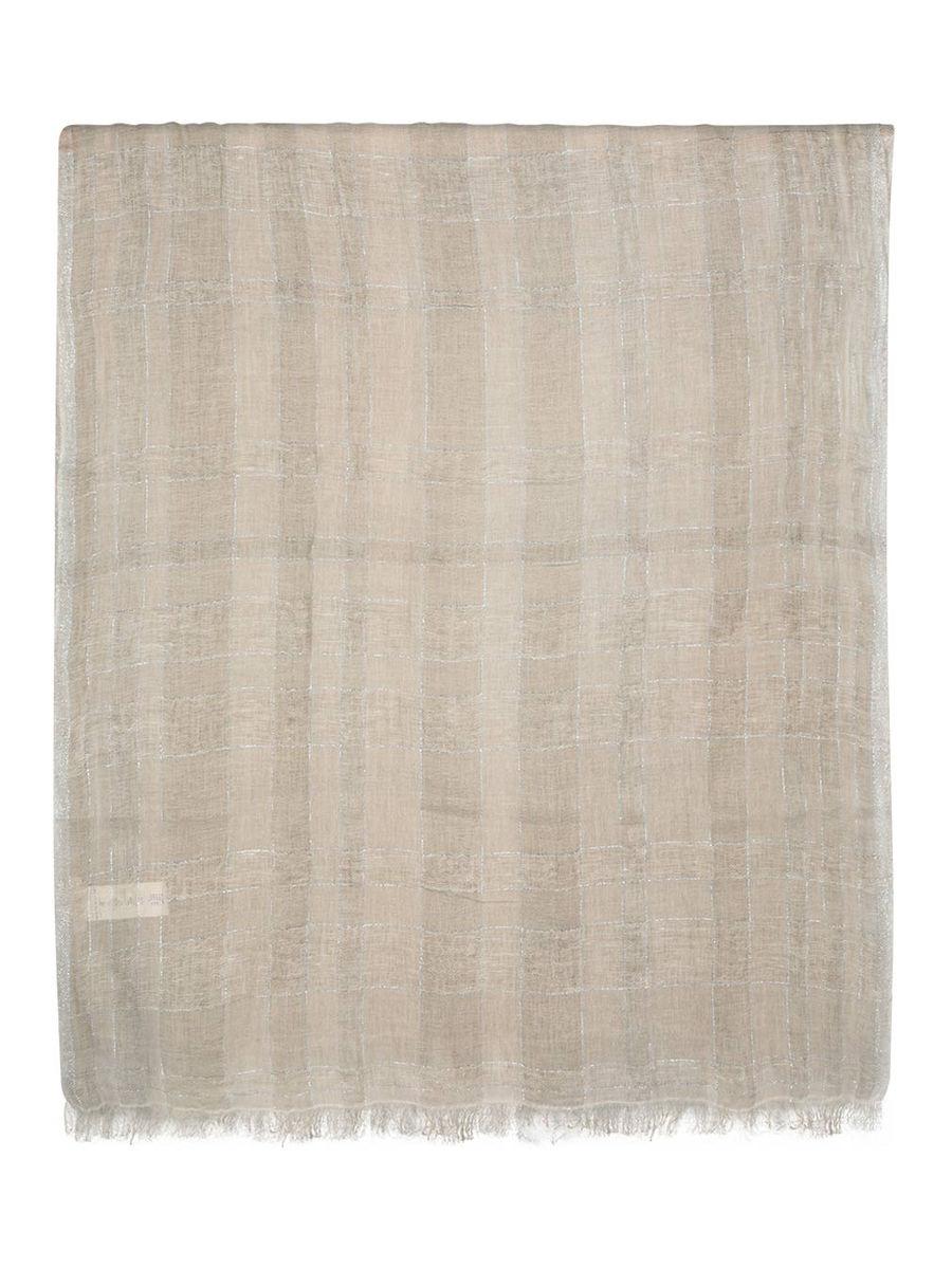 Linen blend distressed hem scarf