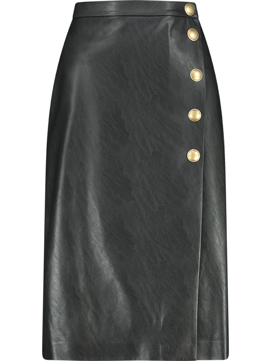 Faux leather eclipse pencil skirt