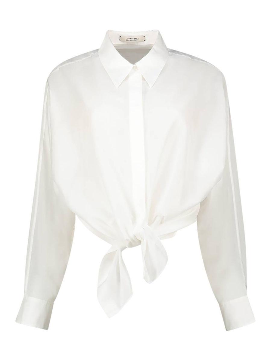 Knot detailed fantasy basic blouse