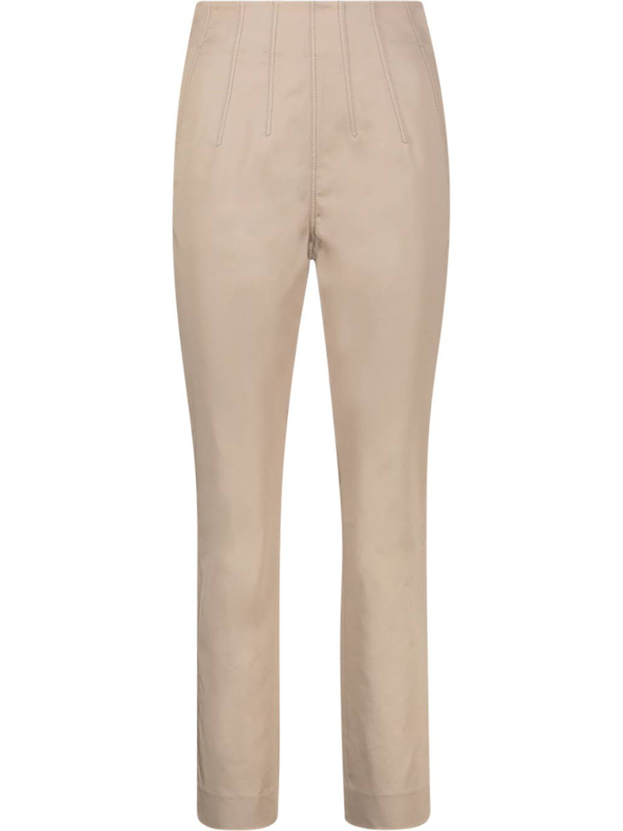 Cotton blend side fastening trousers