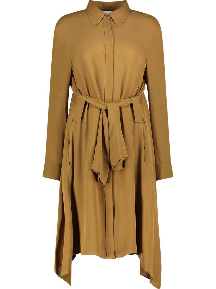 Fluid luxury belt detailed dress