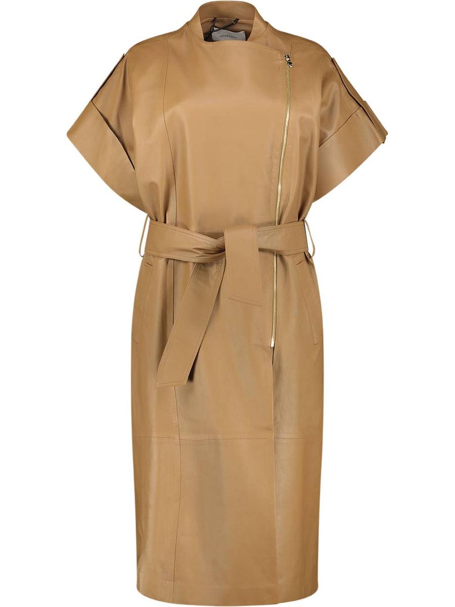 Short sleeve side fastening overcoat