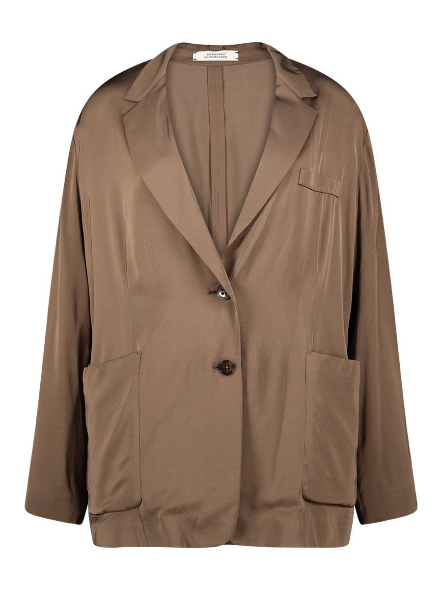 Loose fit long sleeve blazer