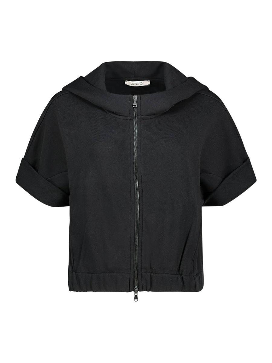 Kurzärmelige Zipper-Jacke