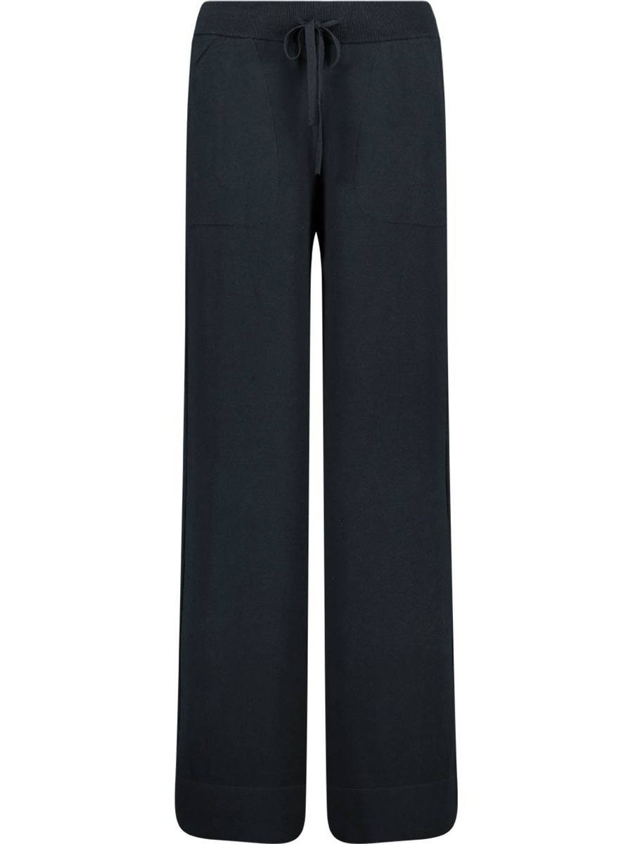 Casual comfort cotton-blend trousers