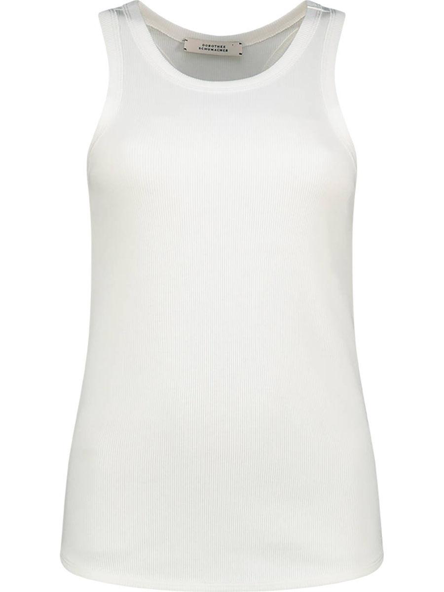 Ärmellose Bluse mit Y-Rücken