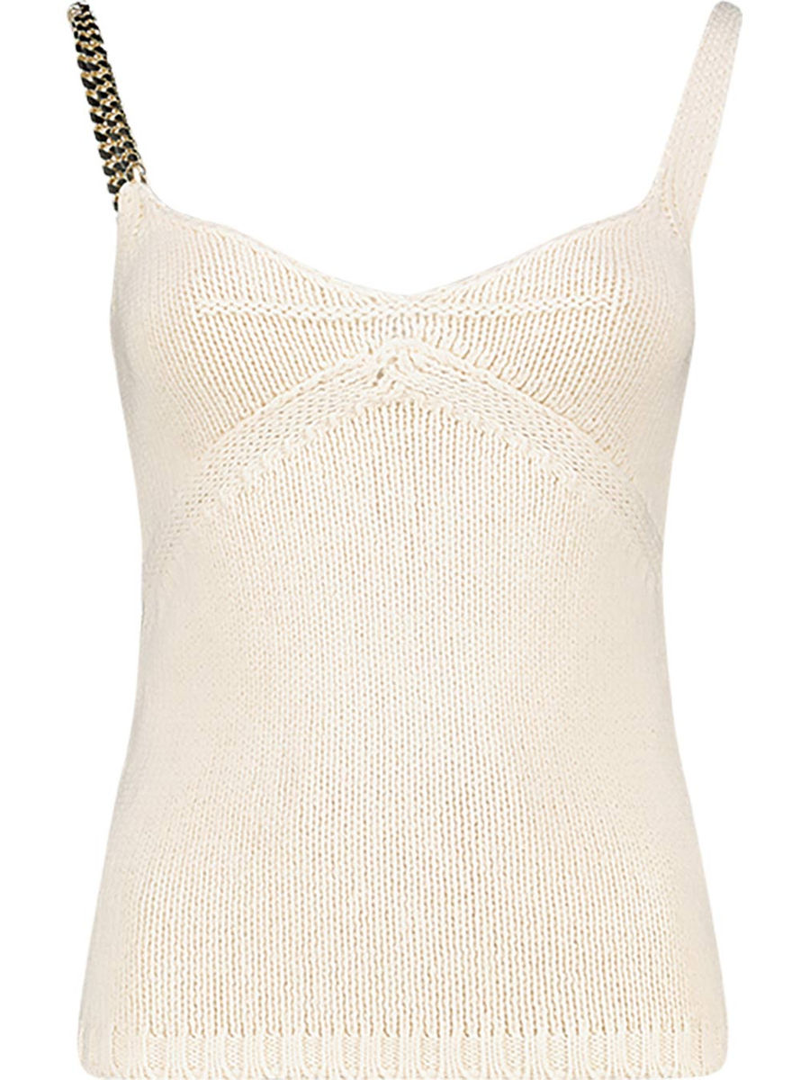 Chained strap crochet top