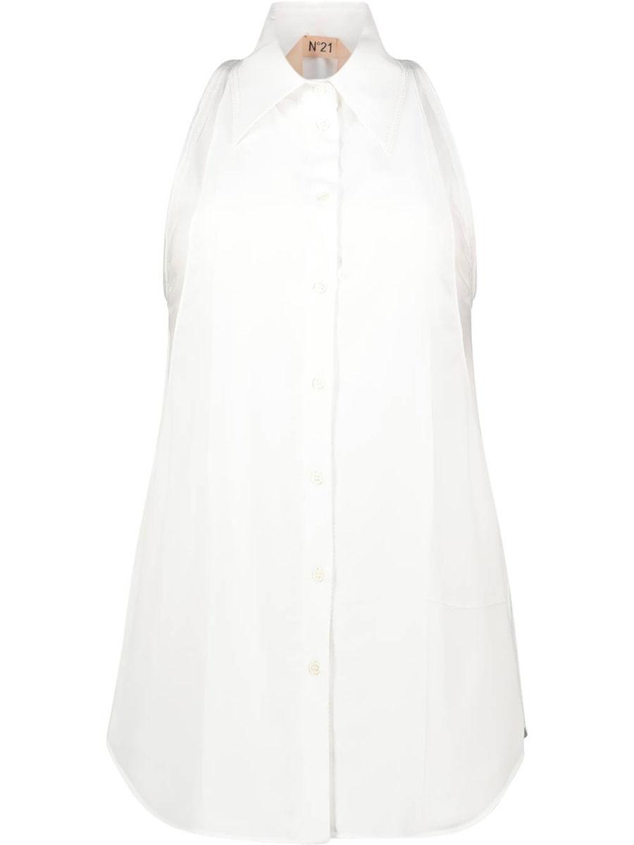 Solid layered sleeveless shirt