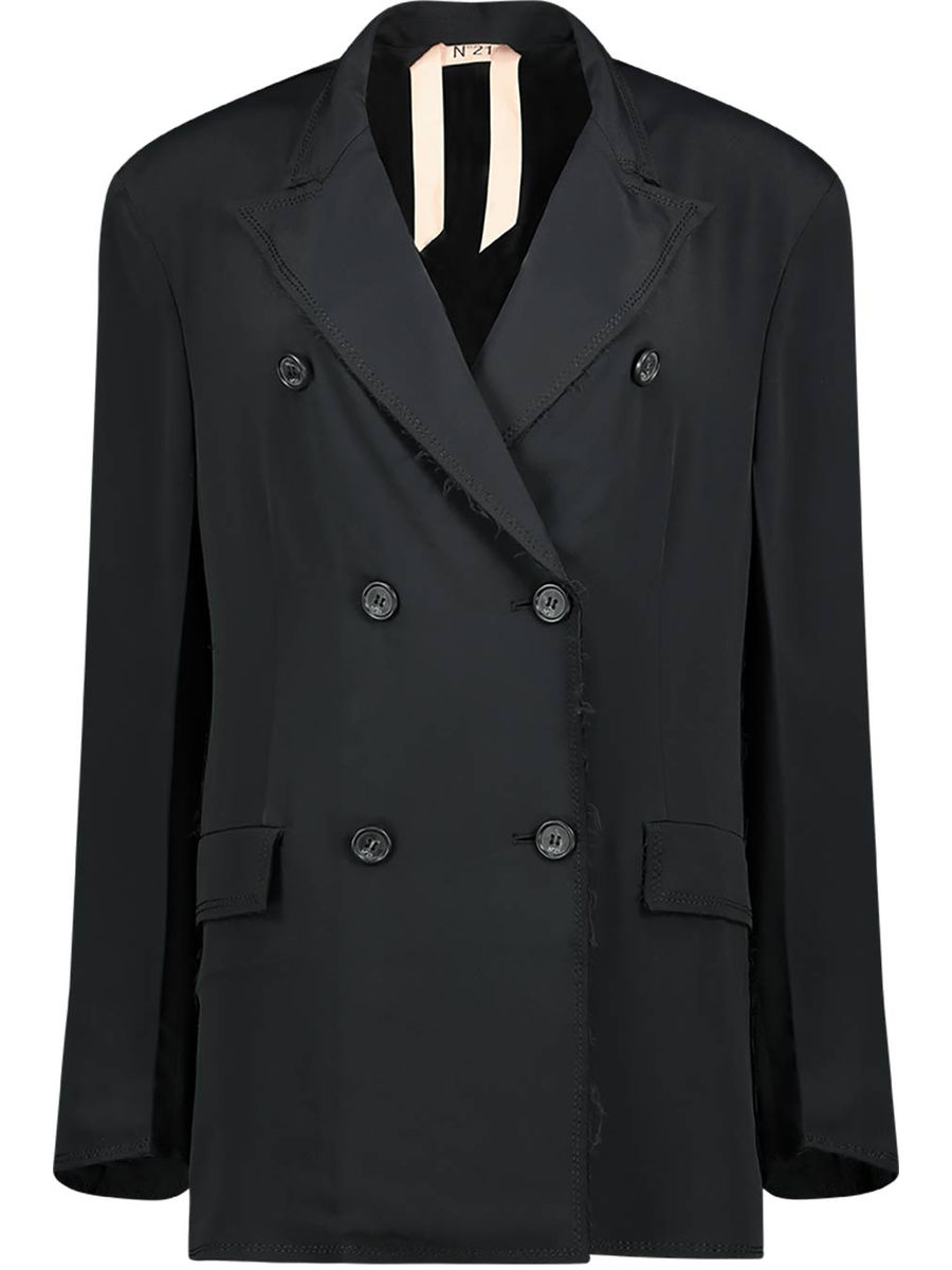 Double breasted wide fit blazer