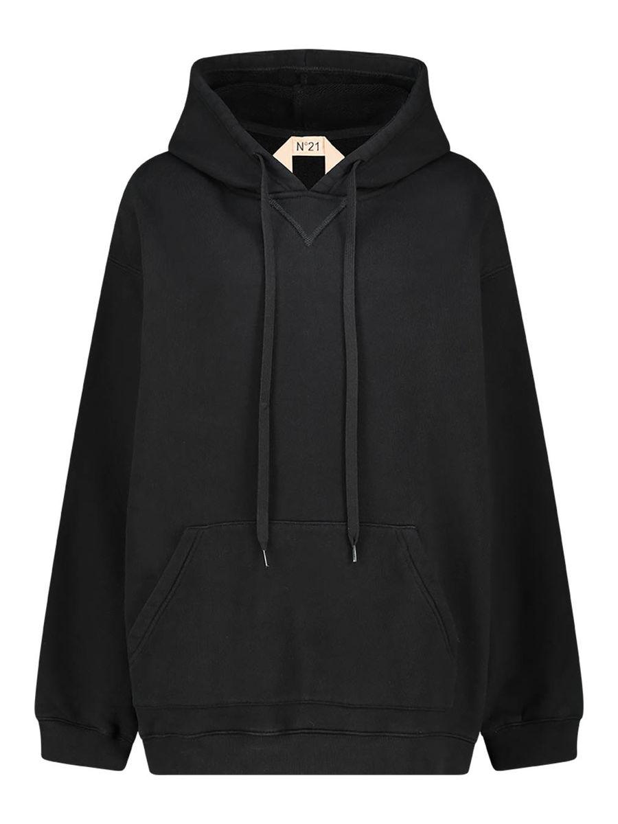 Hooded back logo sweatshirt