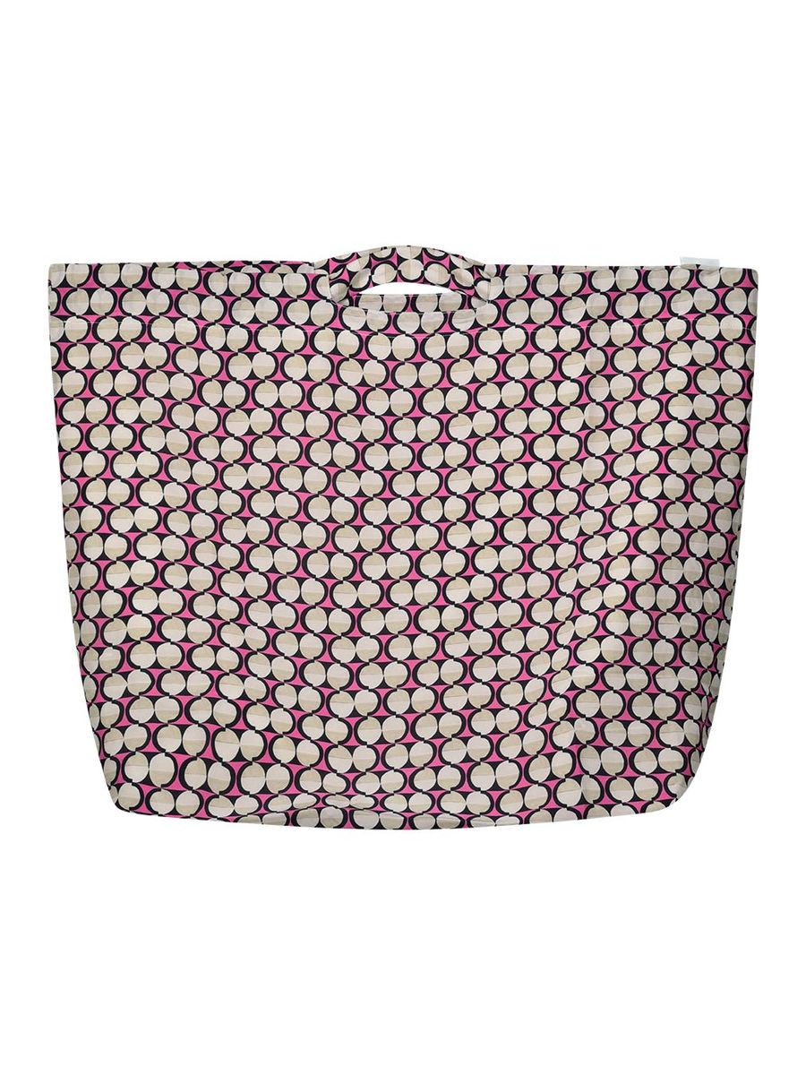 Geometric print handheld bag