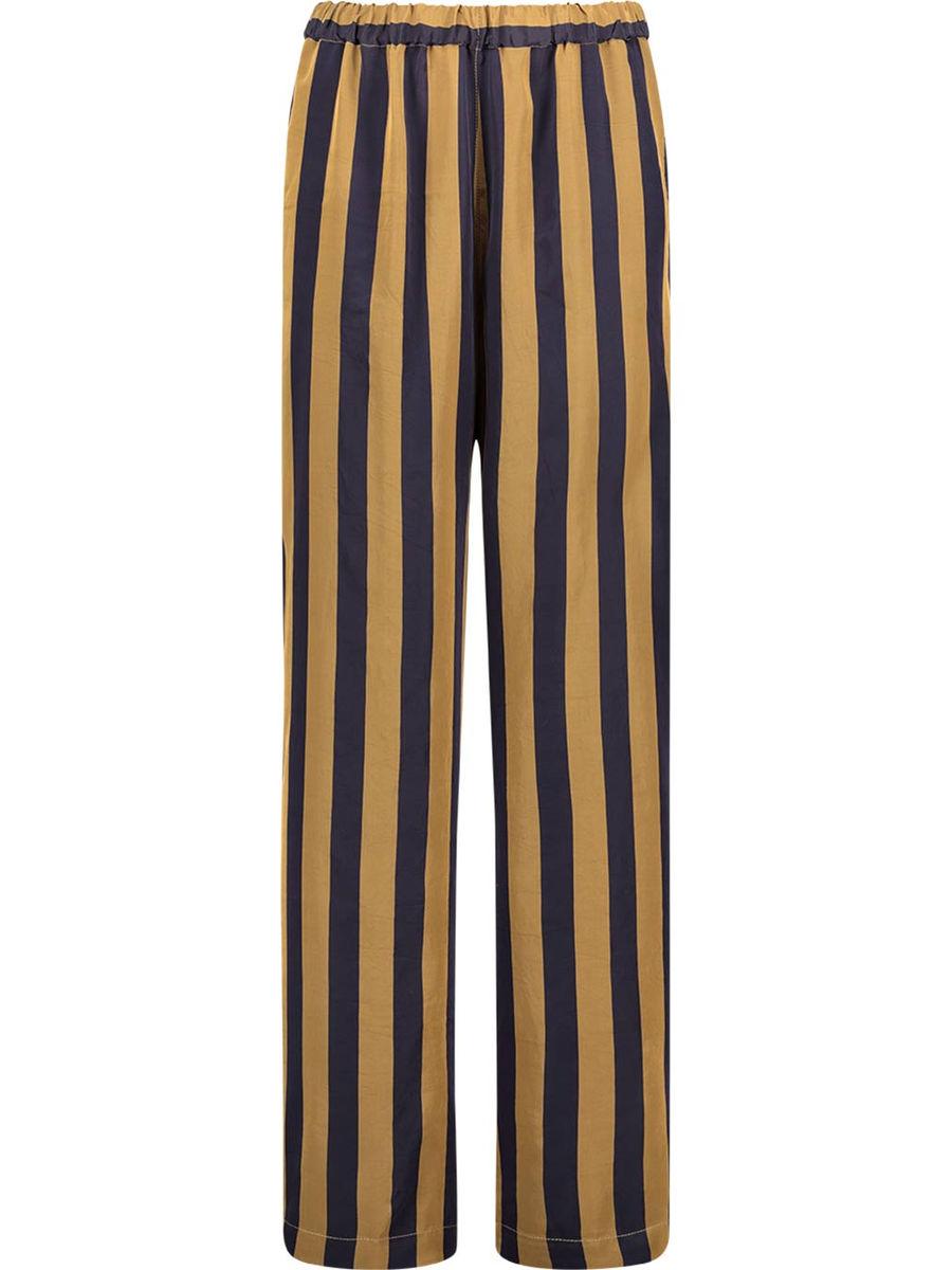 Striped stretch waist trousers