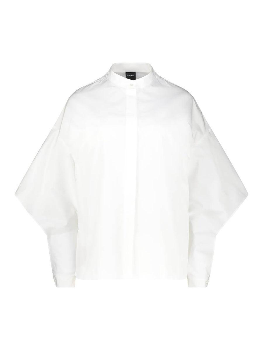 Ivory white drop shoulder blouse