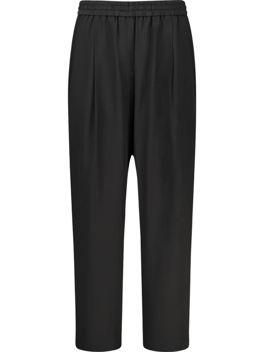 Charcoal stretch waist trousers