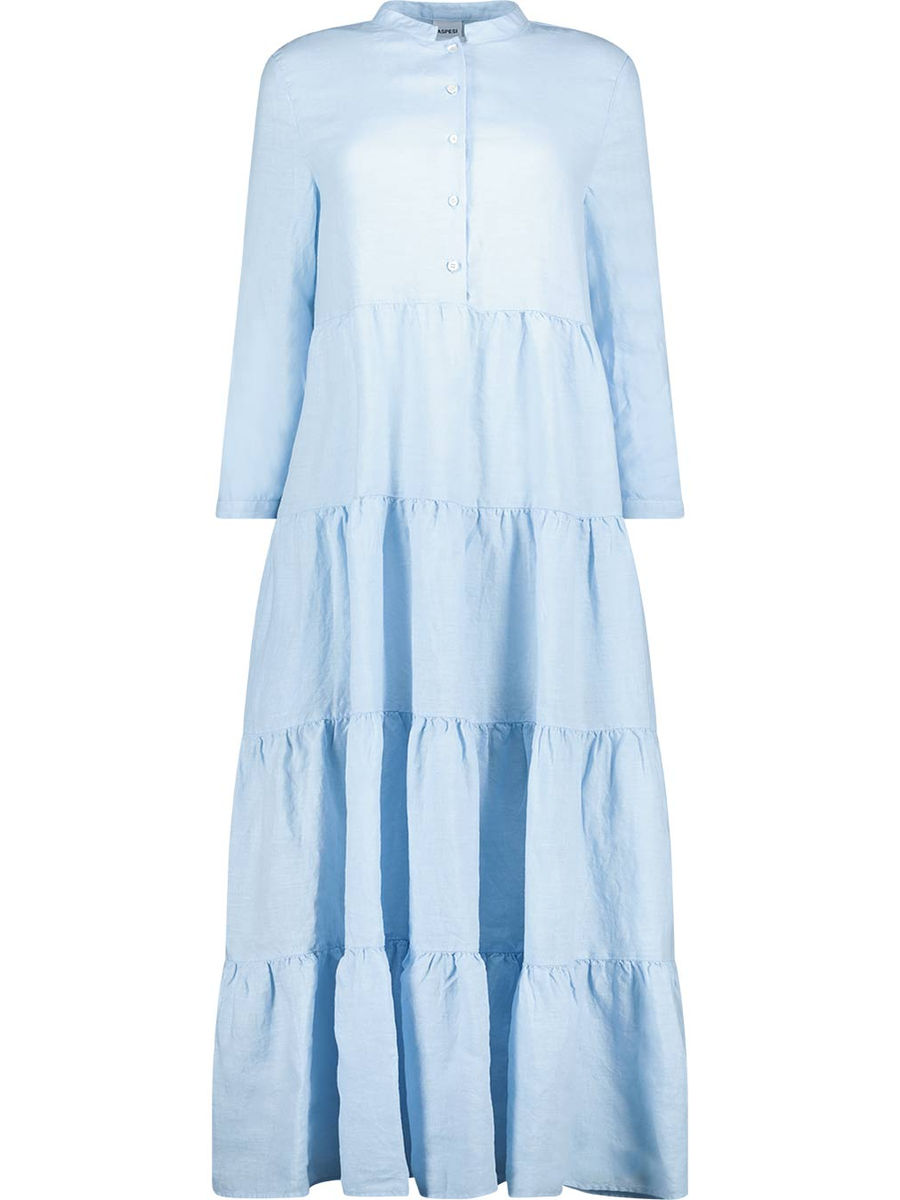 Powder blue tiered midi dress