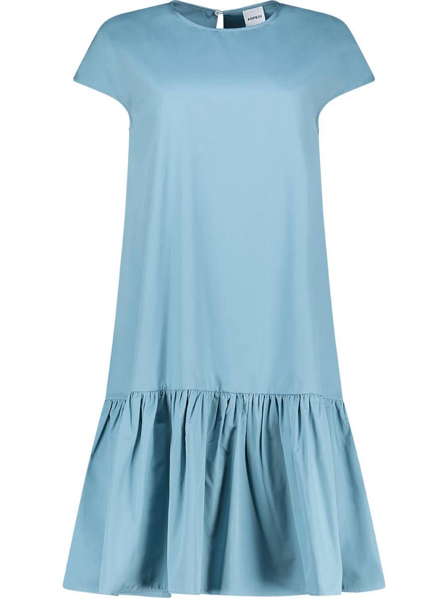 Himmelblaues Dropwaist-Kleid