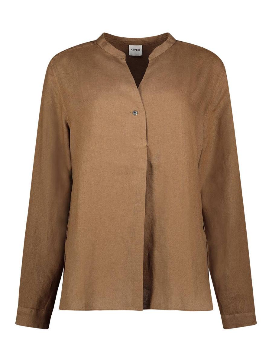 Mandarin collar relaxed fit shirt