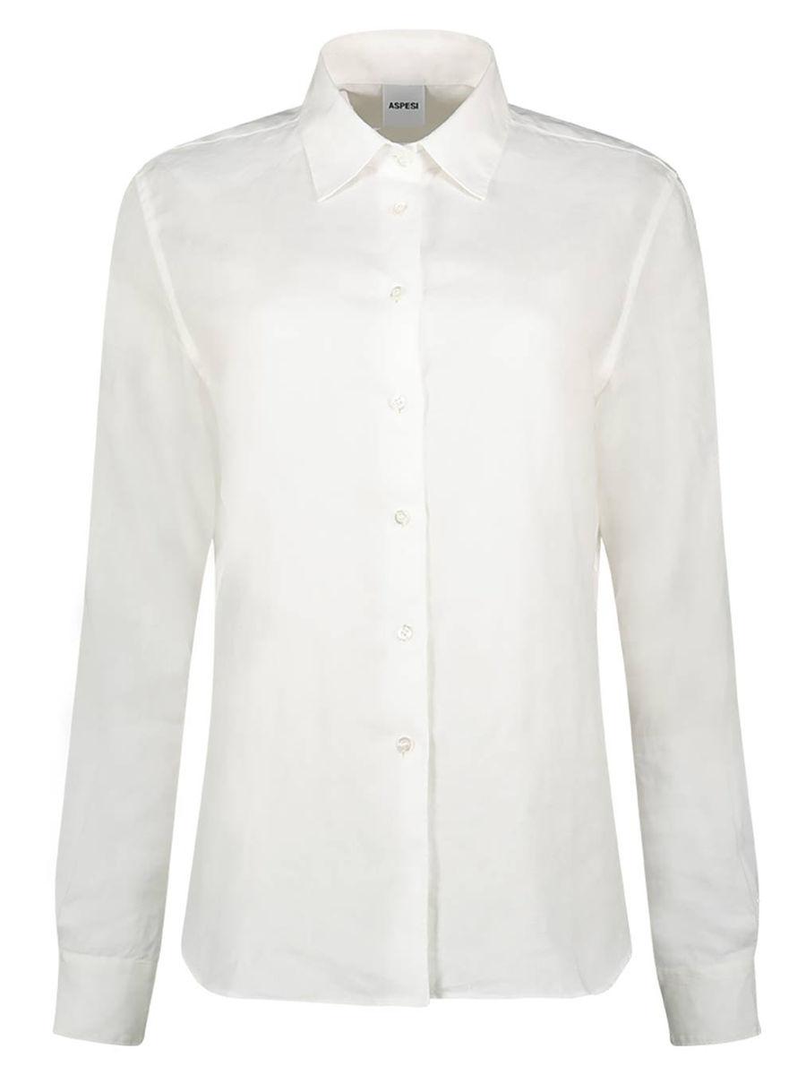 Cuffed sleeve linen shirt