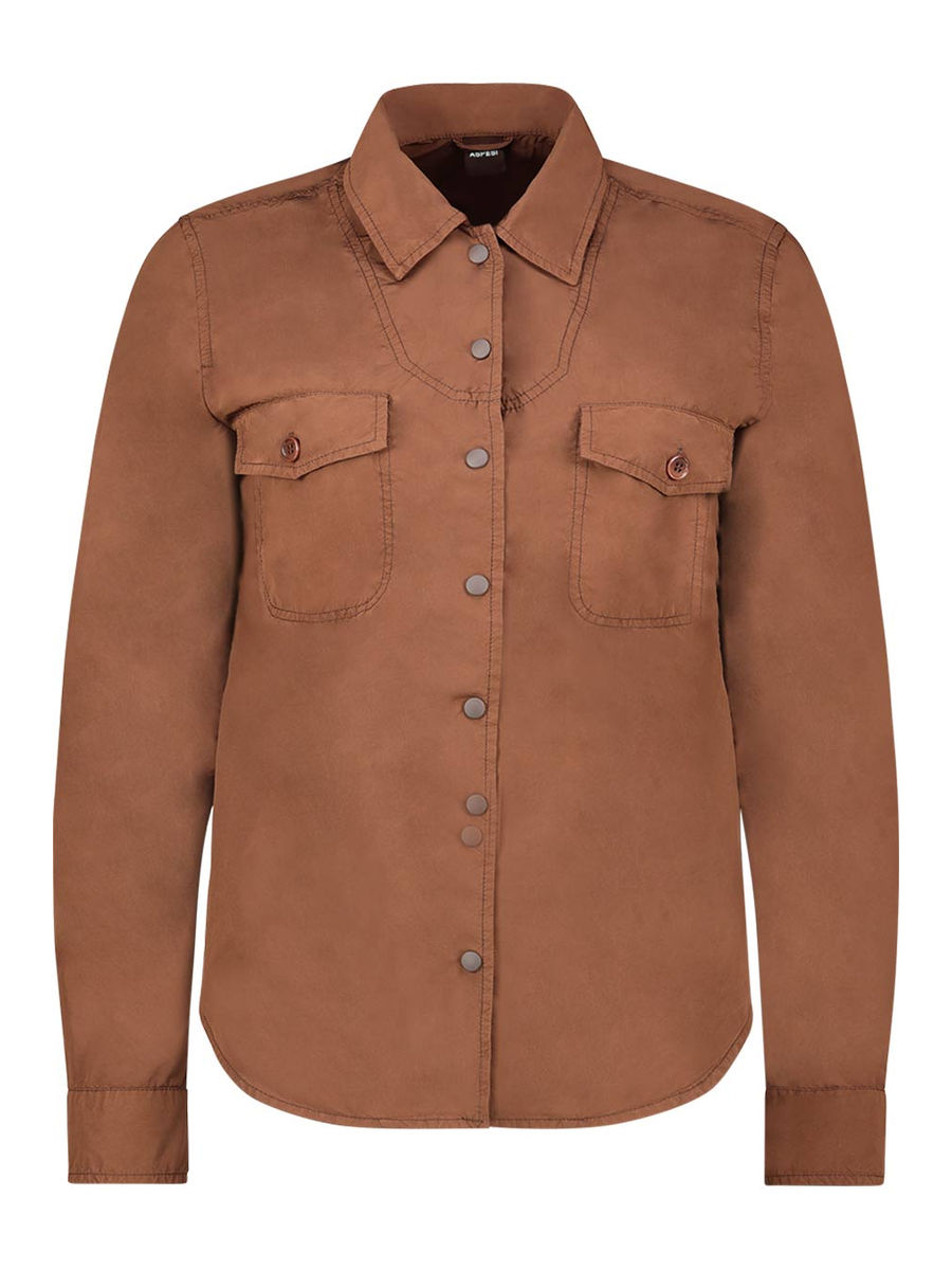 Earth tone button up shirt