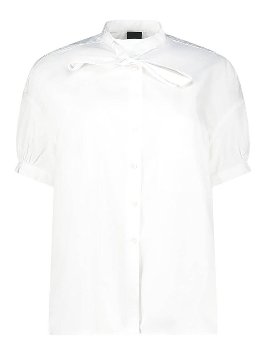 Bow detailed pure cotton blouse