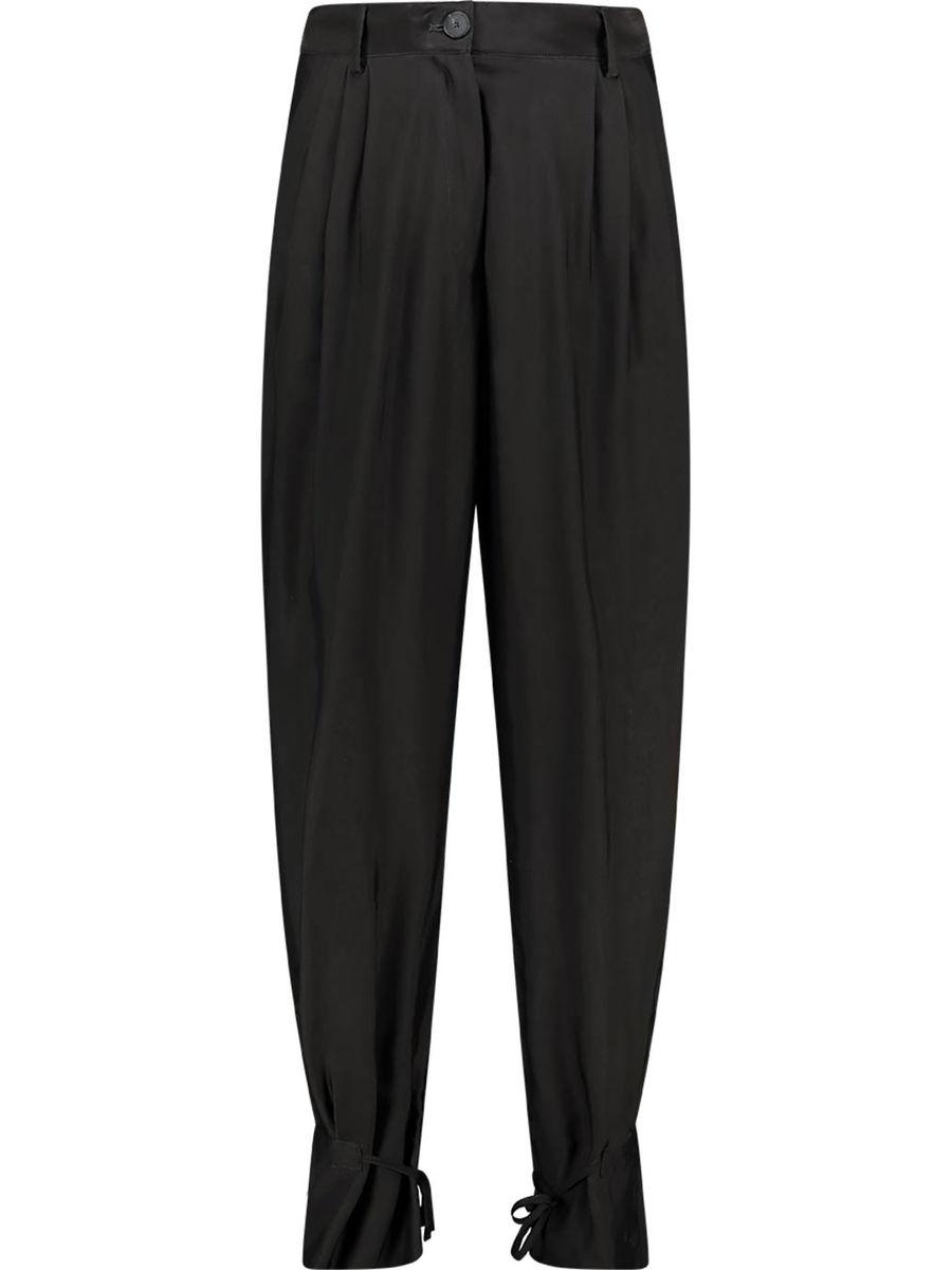 Fluid heavy pleated trousers