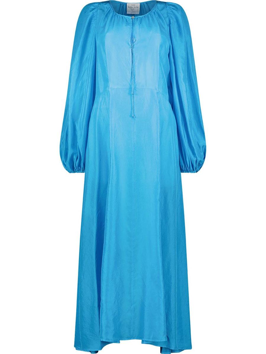 Asymmetrical fall fluid maxi dress