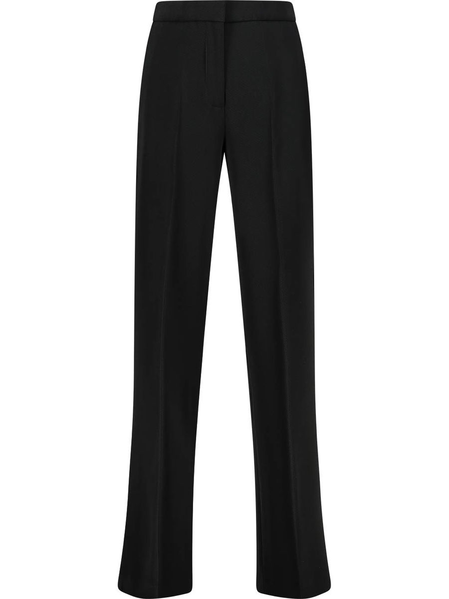 Concealed fastening straight leg trousers