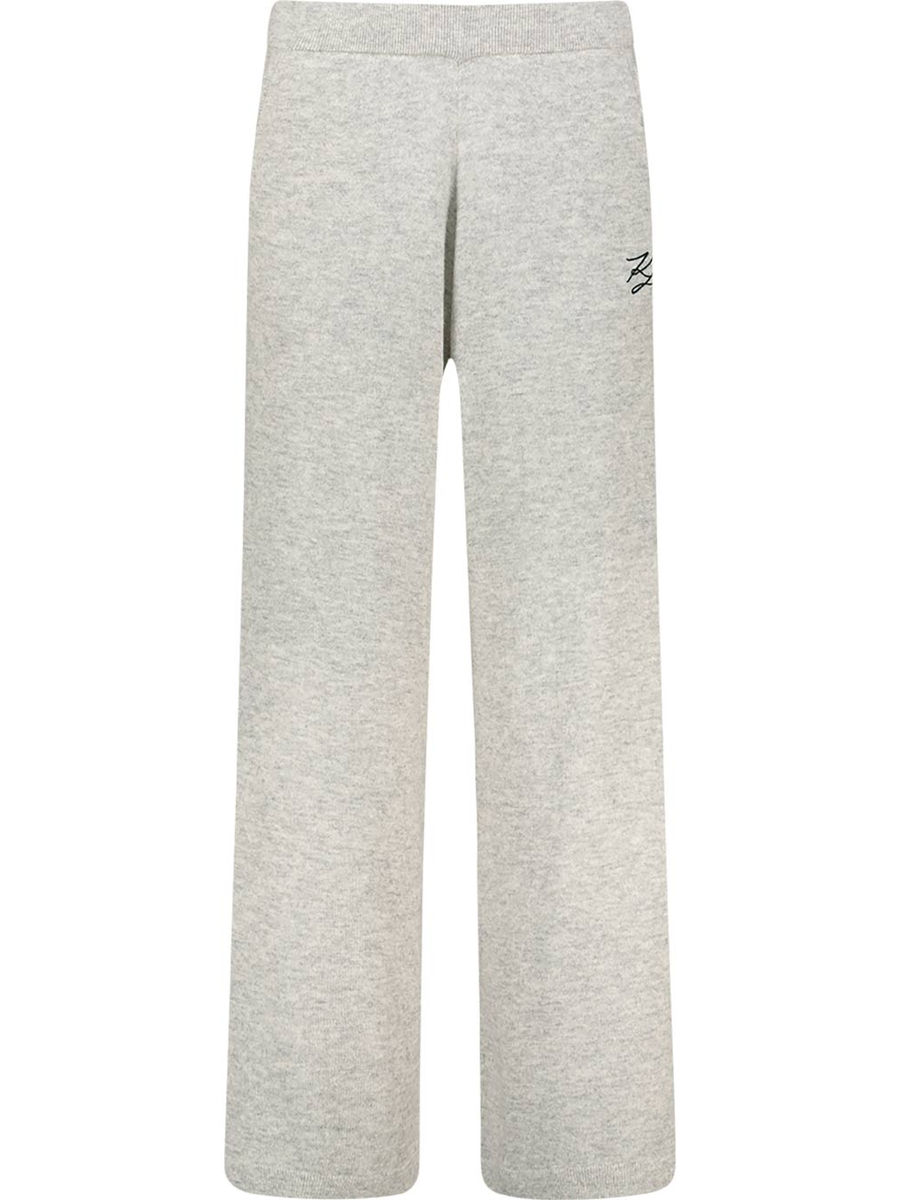 Wide leg cashmere joggers