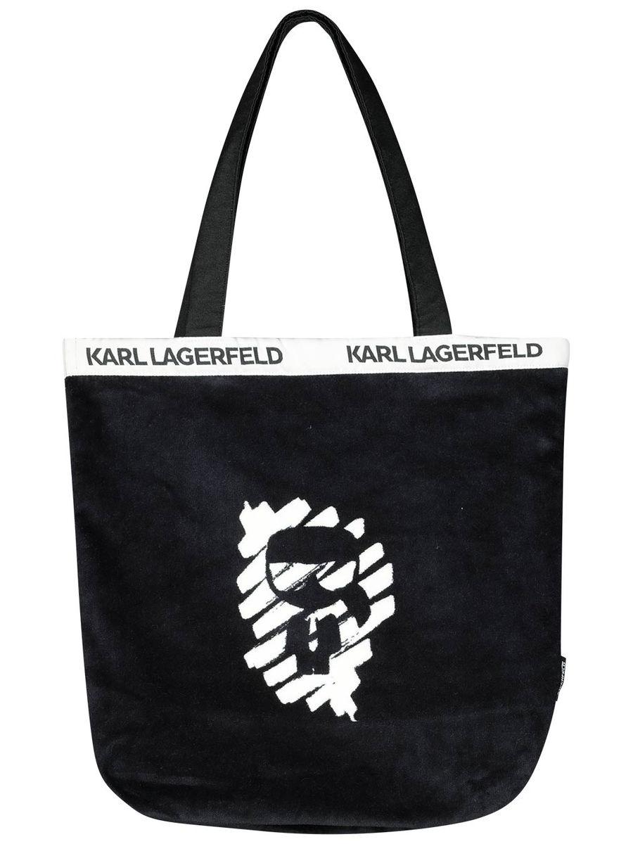 Mini Karl logo beach set