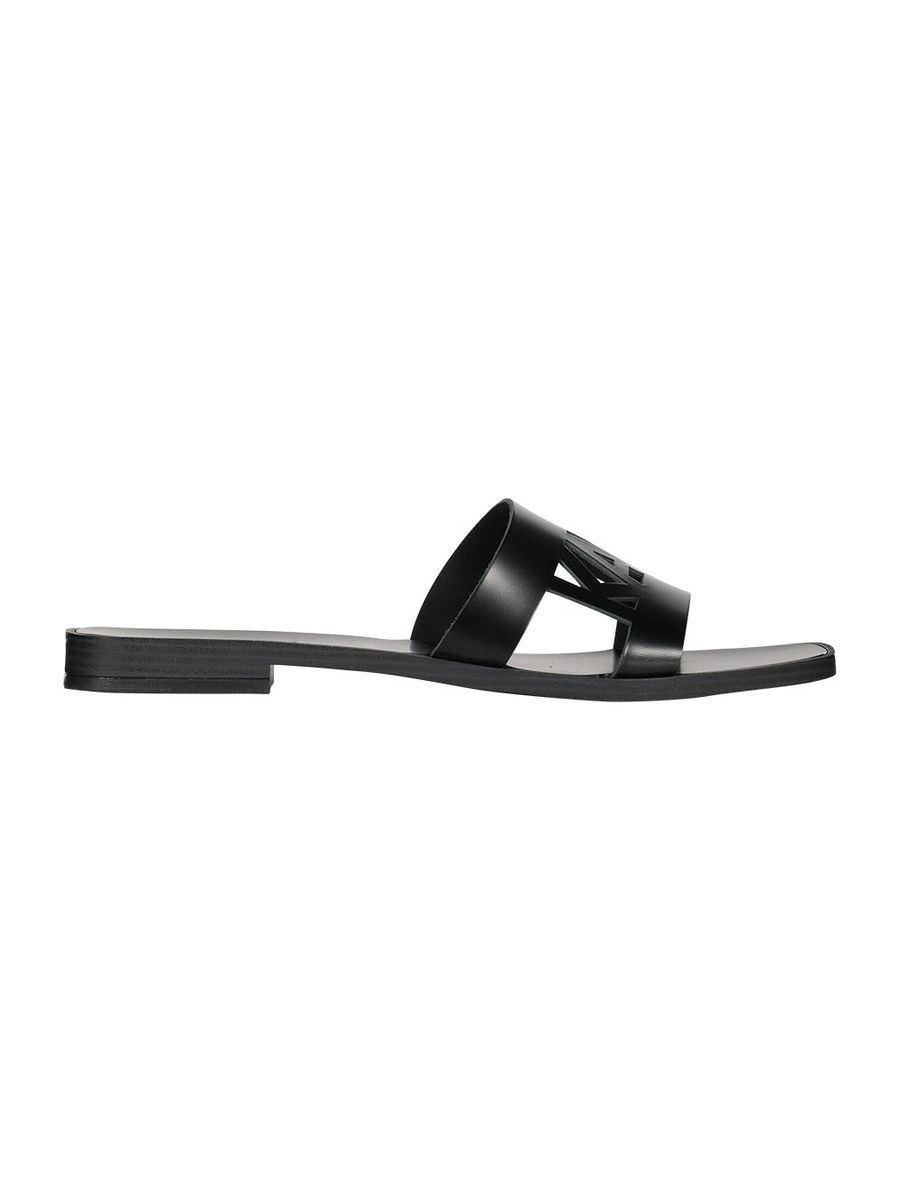 Logo cut-out Skoot sandals