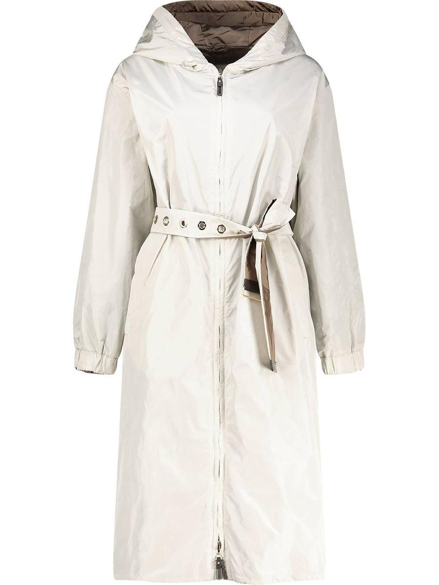 Waistbelt detailed reversible coat