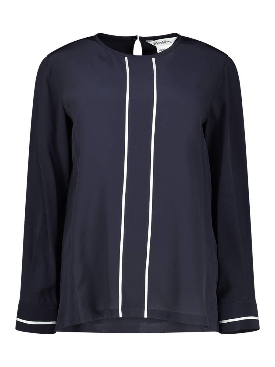 Pure silk crépe blouse