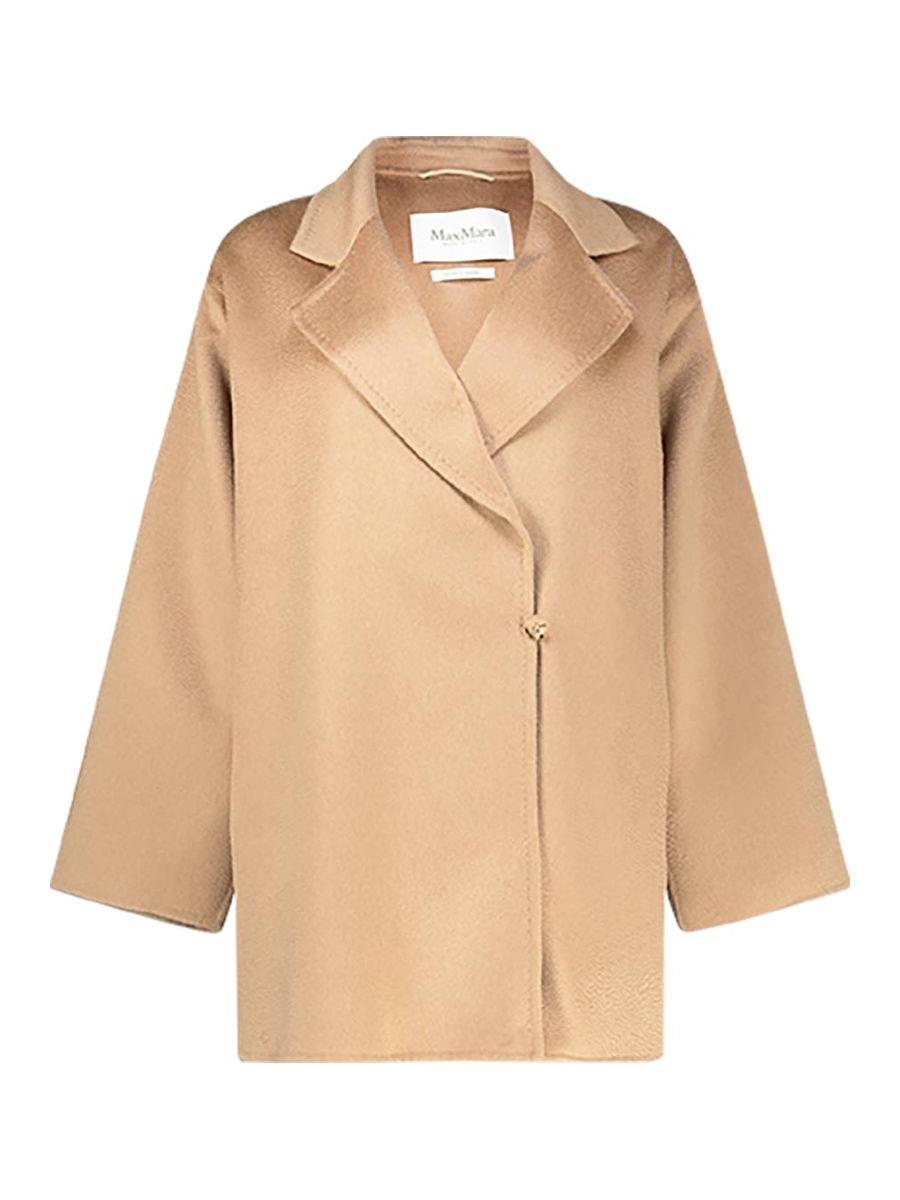 Nude toned cashmere coat