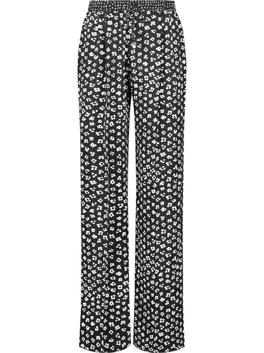 Wide leg high waist floral trousers
