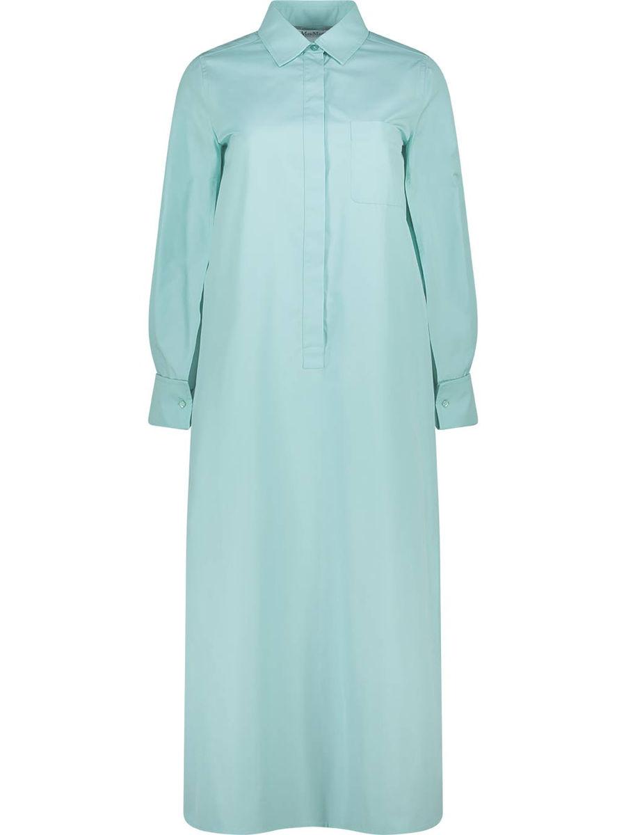 Cuffed slit sleeve maxi dress