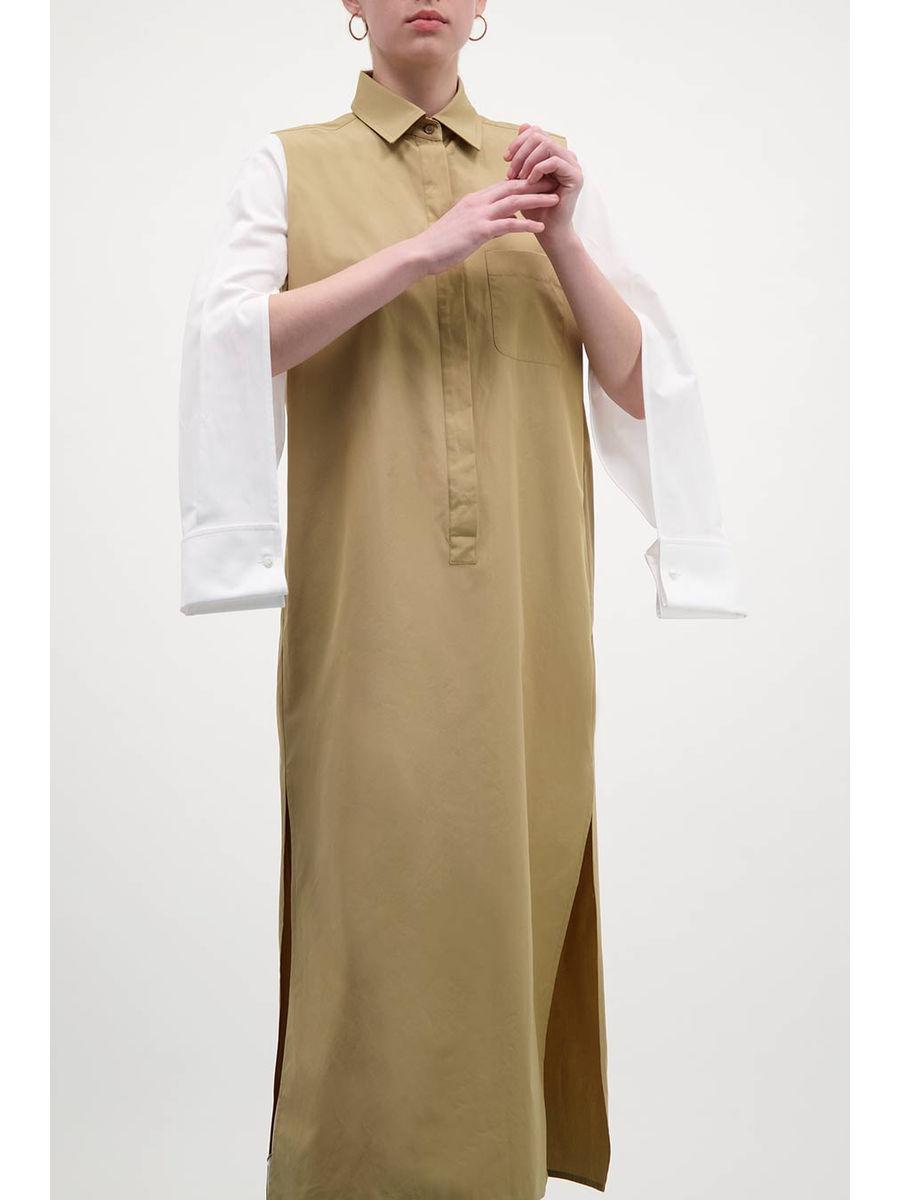 Double-trouble slit sleeves midi dress