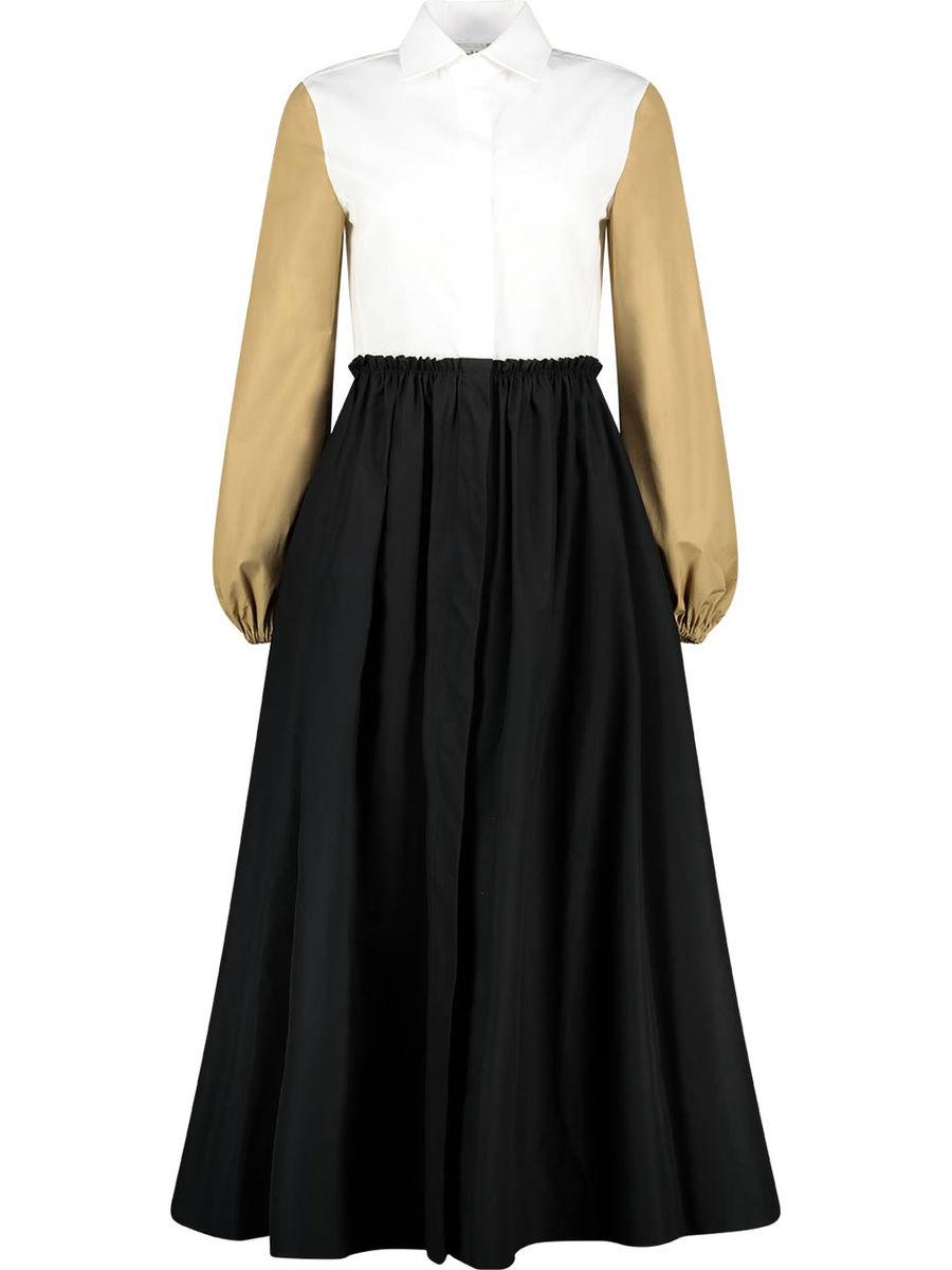 Vintage feel pleated midi dress