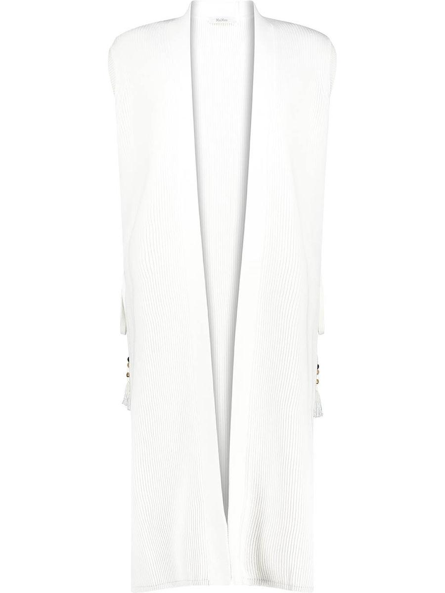 Classic front-open cotton blend cardigan
