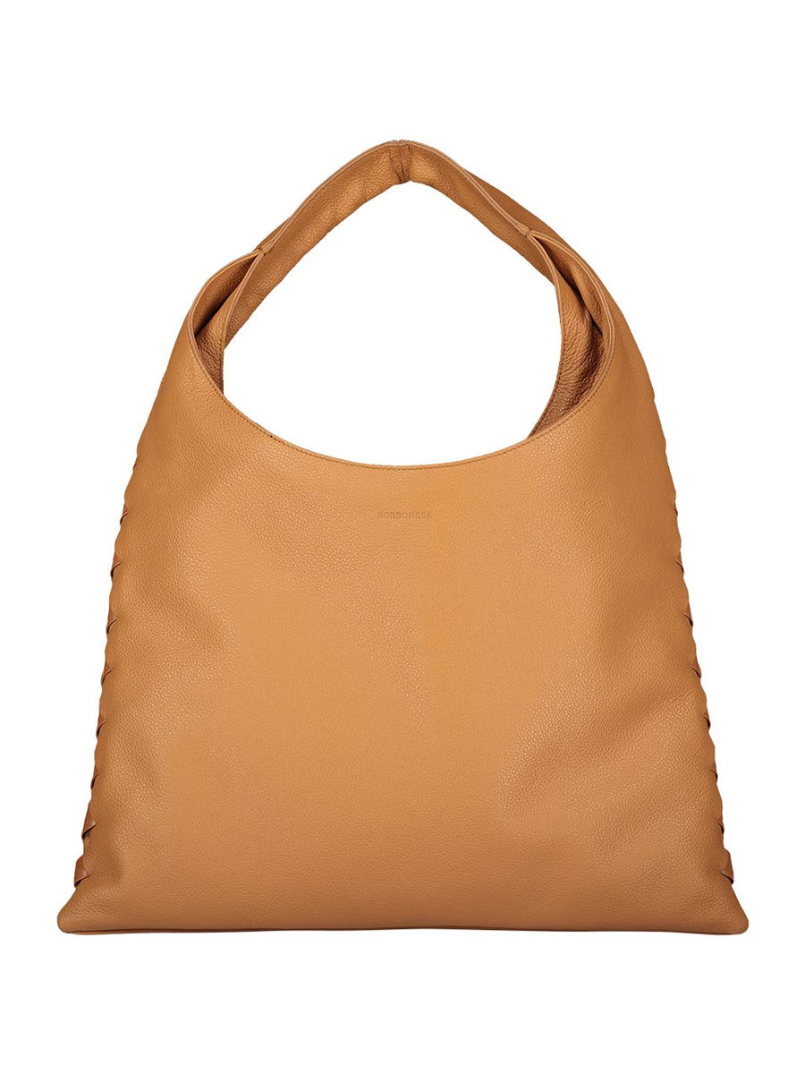 Camel square hobo hand bag