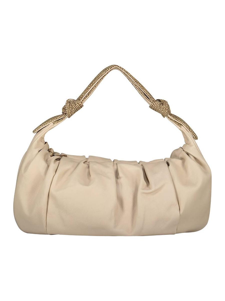 Neutral midi hobo handbag