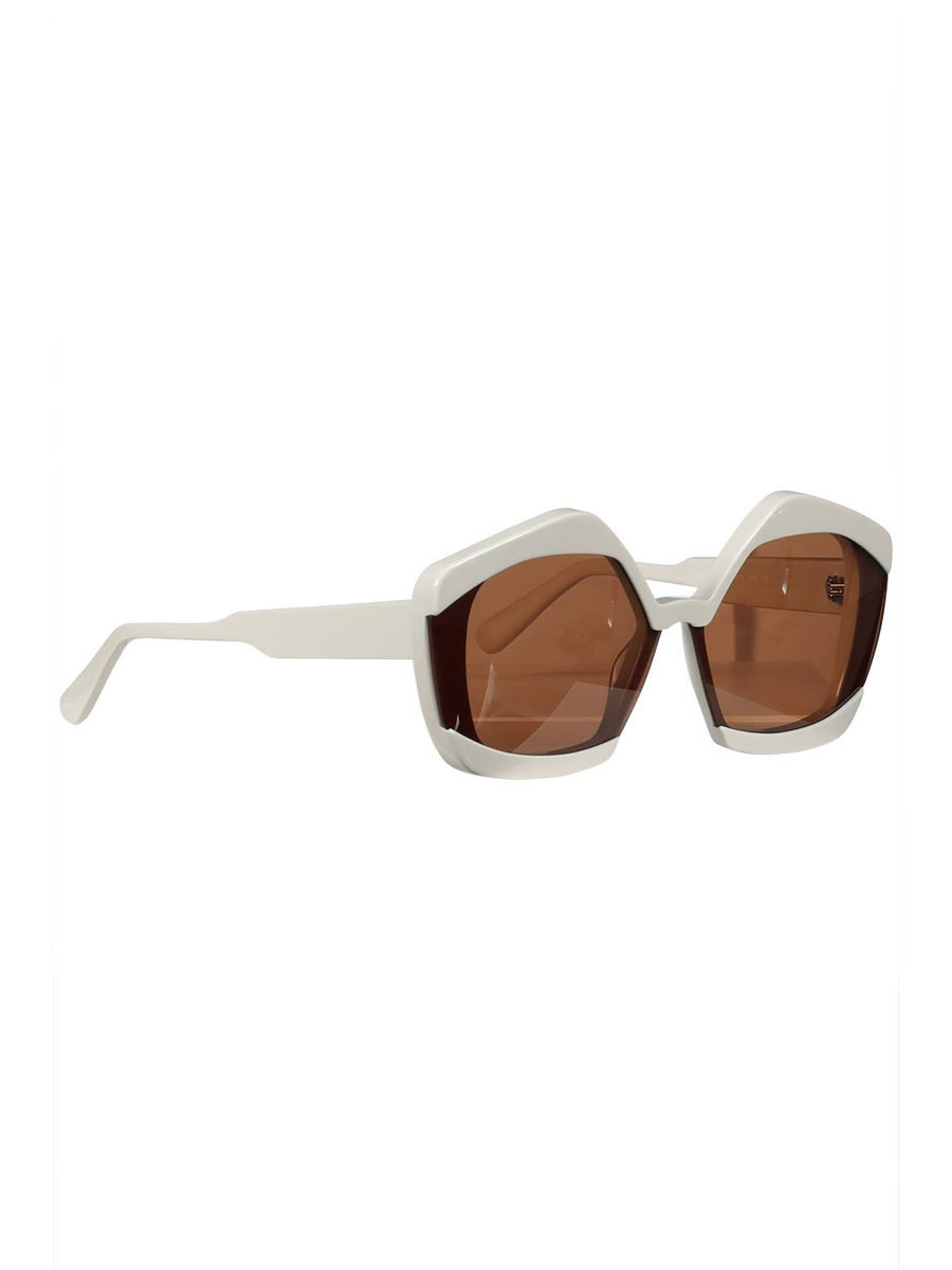 Brown glass statement sunglasses