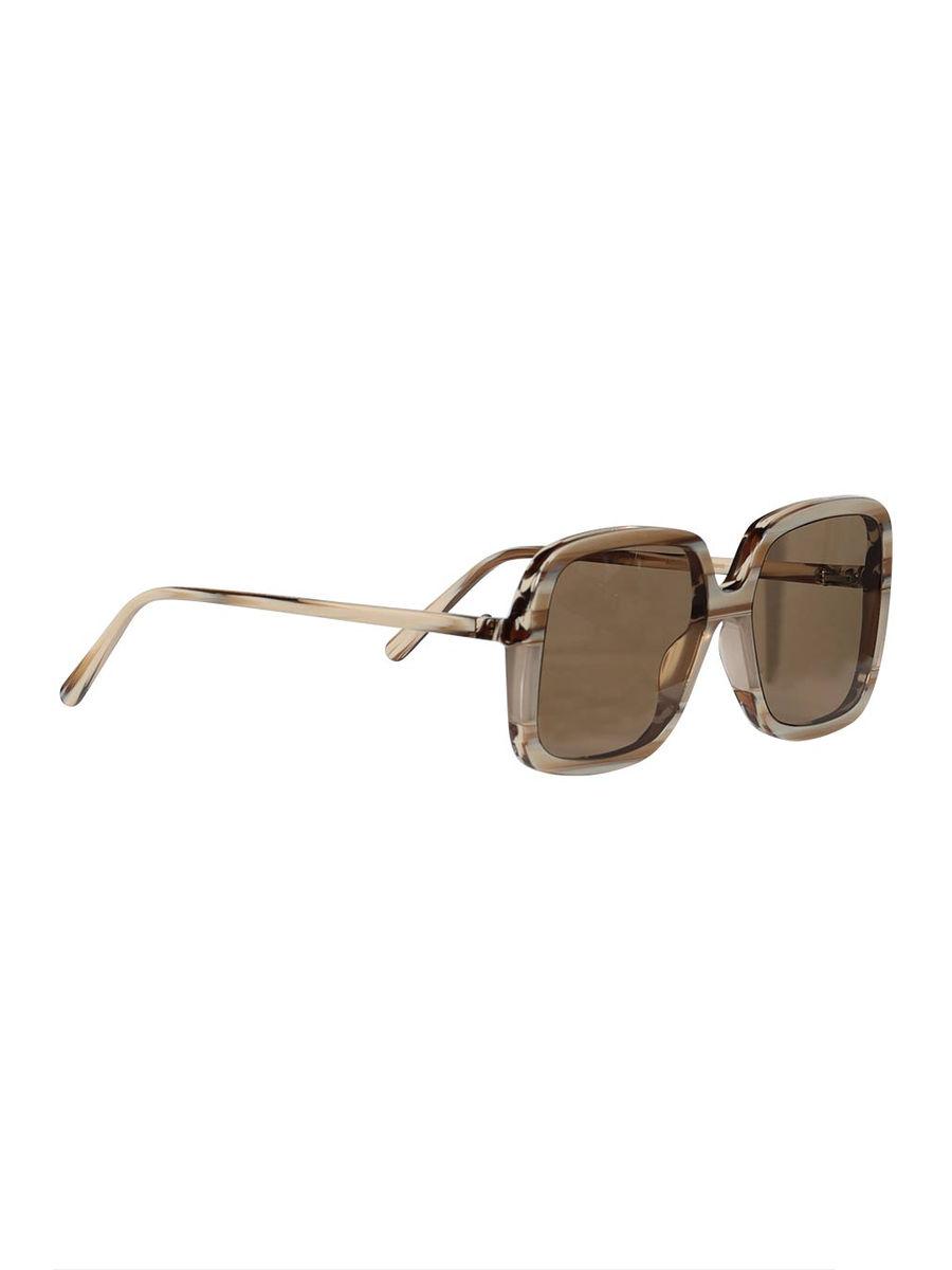 Neutral striped square sunglasses