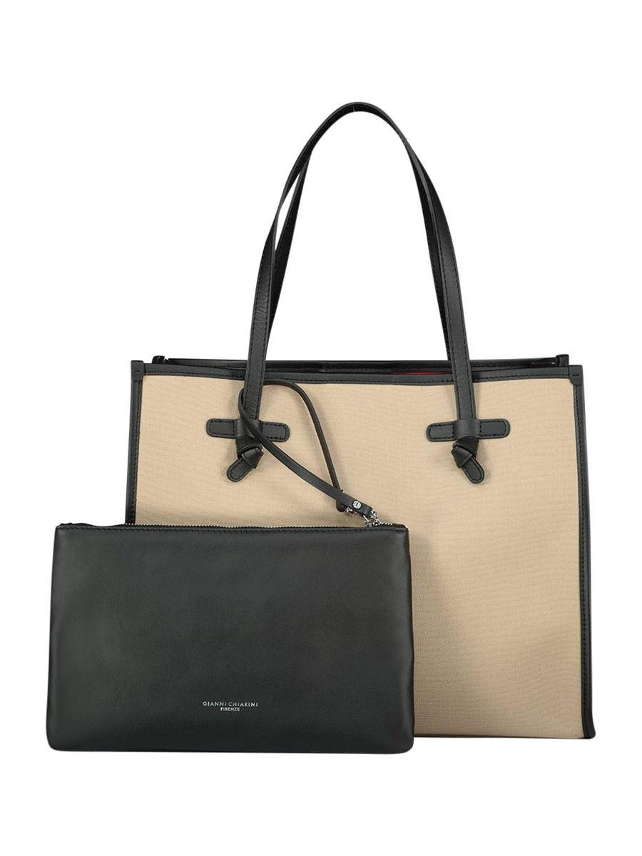 Mittelgroße Handtasche mit Clutch